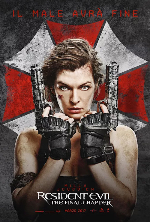 Poster del film Resident Evil: The Final Chapter